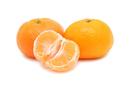 Fresh Tangerines, isolated on a white background photo