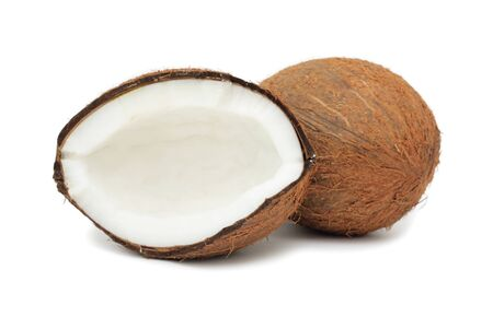 coco: Coconut, isolated on a white background