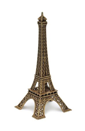 Eiffel Tower Statue, isolated on a white background Stock Photo - 8533765