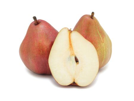 Red pears, isolated on a white background photo