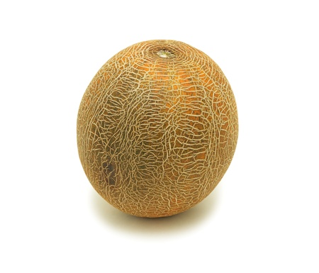 Yellow melon, isolated on a white background