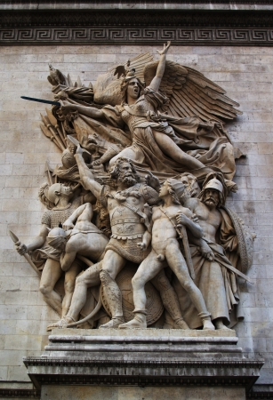 low relief: Low relief  Marseillaise  on Triumphal Arch Editorial
