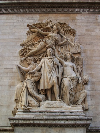 low relief: Low relief  Triumph 1810  on Triumphal Arch Editorial