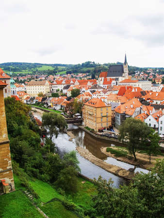 krumlov: Nice view of Chesky Krumlov Stock Photo