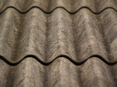 Part of old grey slate roof  focus in center  photo