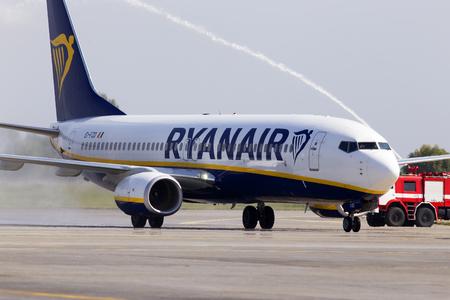Borispol, Ukraine - September 03, 2018: Ryanair Boeing 737-800 aircraft at the Borispol International Airport