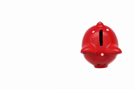 Piggy Bank. Savings and investment piggy Bank theme isolated on white background. Concept of savings, payment and credit. Copy space. Stockfoto