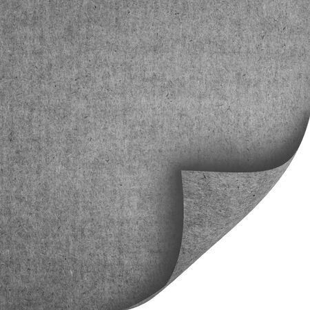 Sheets of gray black textured paper isolated on white. Eco paper.
