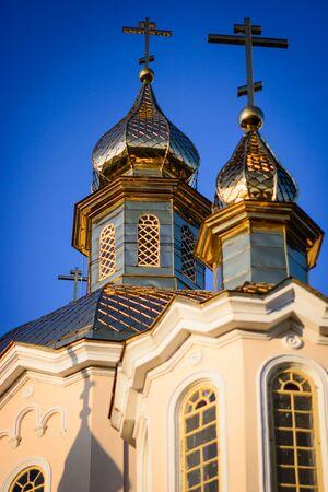 ortodox: Ortodox church cupolas Stock Photo