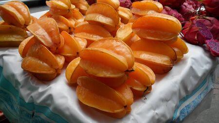 star fruit: Star fruit on tray
