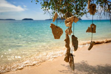 trat: Beautiful tropical beach at island Koh Chang , Thailand. Stock Photo