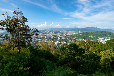 Khao Toh Sae Viewpoint on the Highest Hill in Phuket, Thailand.