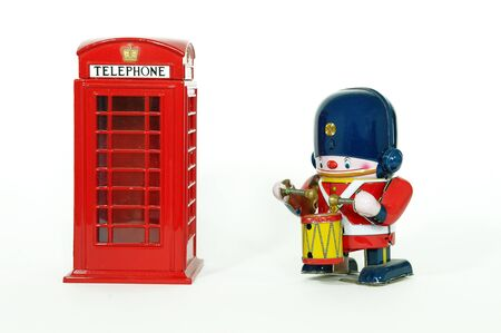 beefeater: phone booth and UK guard
