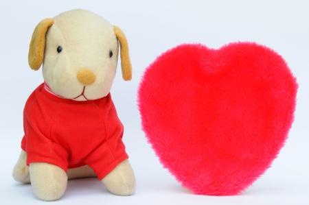 woeful: dog dnd big heart Stock Photo