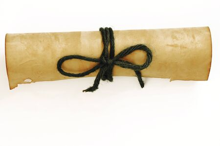 rolled paper: old rolled paper isolated on white background