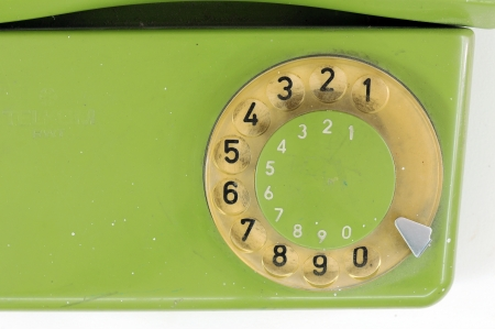 oldened: vintage phone number  Stock Photo