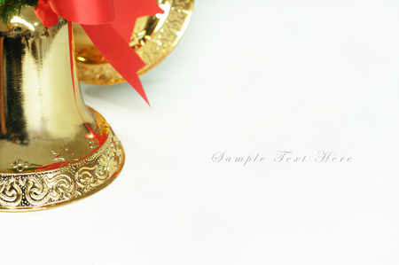Golden bells for merry christmas background  photo