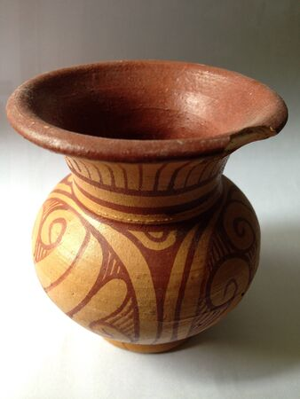 colour: The old clay pot Thailand
