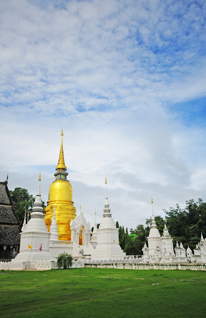 Wat Suan Dok  monastery  in Chiang Mai Thailand  photo