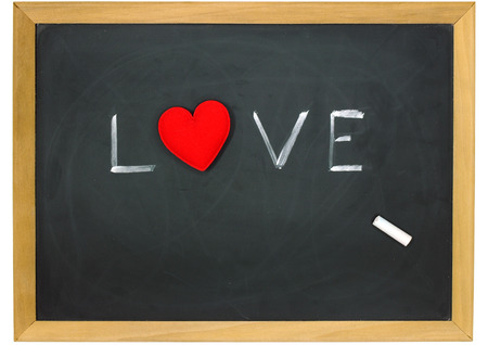 love heart on a chalkboard  photo