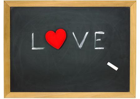 love heart on a chalkboard  photo
