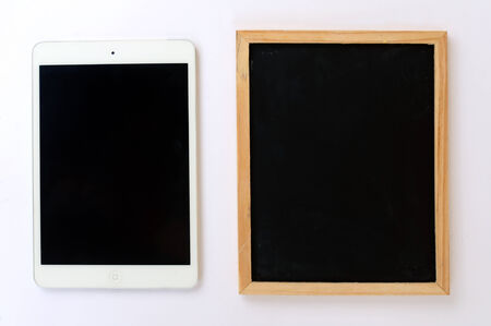 tablet with chalkboard