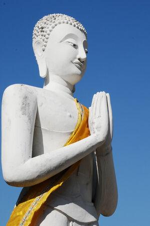 yai: statua di Buddha, Wat Yai Chaimongkol, Ayutthaya, Thailandia