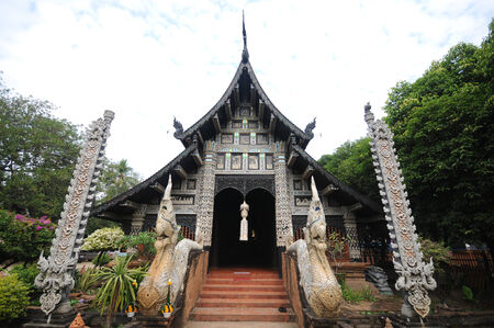 molee: Wat Lok Molee temple in chiangmai,Thailand