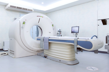 MRI scanner room Stock Photo