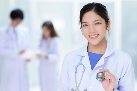 young asian doctor portrait  Standard-Bild