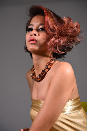 Beauty Portrait, Concept Coloring Hair photo
