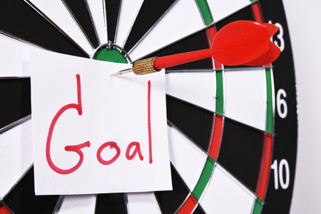 Dartboard for set goal concept. photo