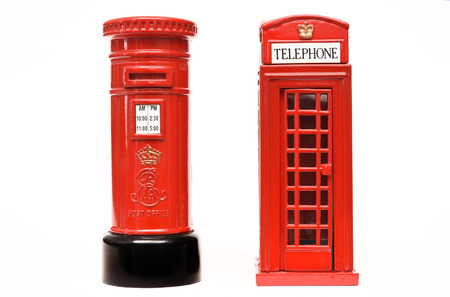 London postbox and telephone box Banco de Imagens
