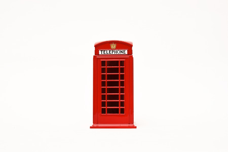 antique booth: London postbox and telephone box Stock Photo