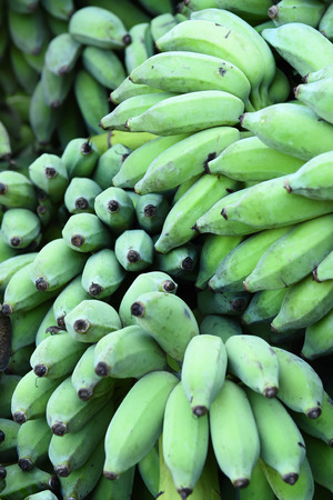 bunched: Heap of green bananas