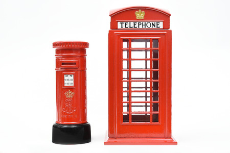 London postbox and telephone box Stock Photo