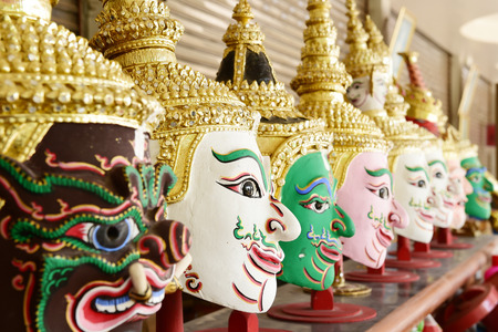 thai dance: Khon, Angel mask in native Thai style, use in royal performance
