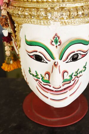khon: Khon, Angel mask in native Thai style, use in royal performance