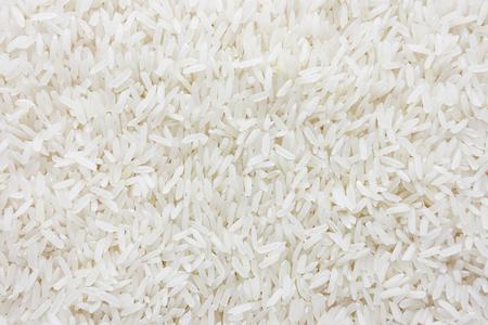 料理と食べ物、背景の白長生米やバスマティ米ジャスミン ライス。