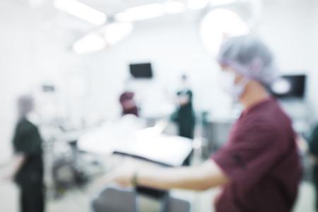 獣医外科手術室でグループのぼかしを選択色技術と芸術的な照明