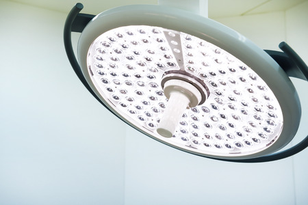 operative: surgical lamps in operation room