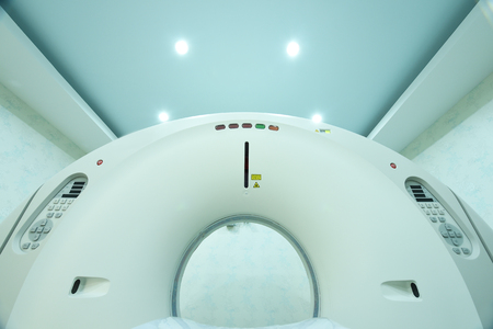 ct: CT scanner room in hospital