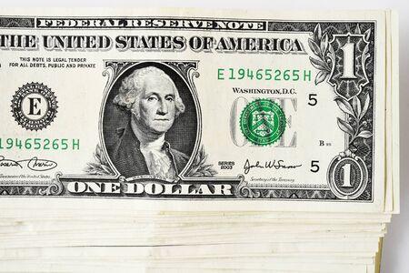 Bankbiljet op witte achtergrond wordt geïsoleerd die Stockfoto