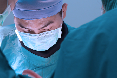 veterinarian surgery in operation room Stock Photo