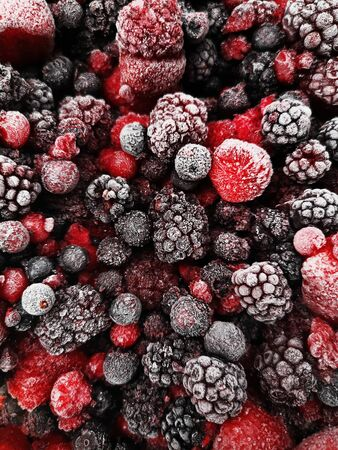 Mix of different berries for background