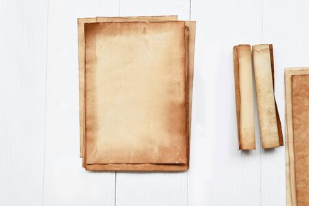 old paper texture on white wooden background