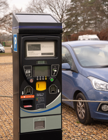 Car Park ticket machine for scanning membership card or accepting payment