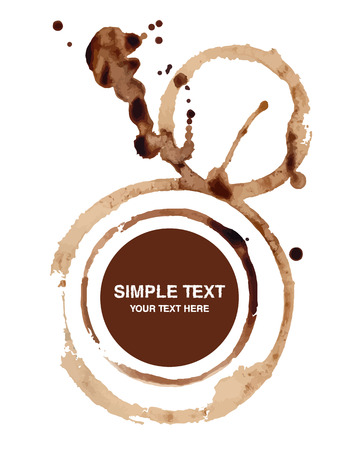 coffee stain: Vector coffee stain on white background