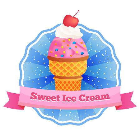 Vector helado diseño lable.