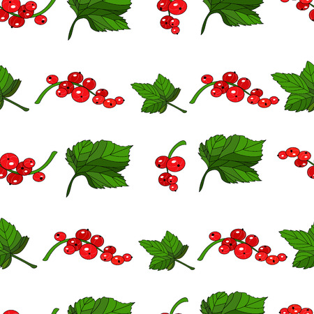 currants: Red currants seamless pattern